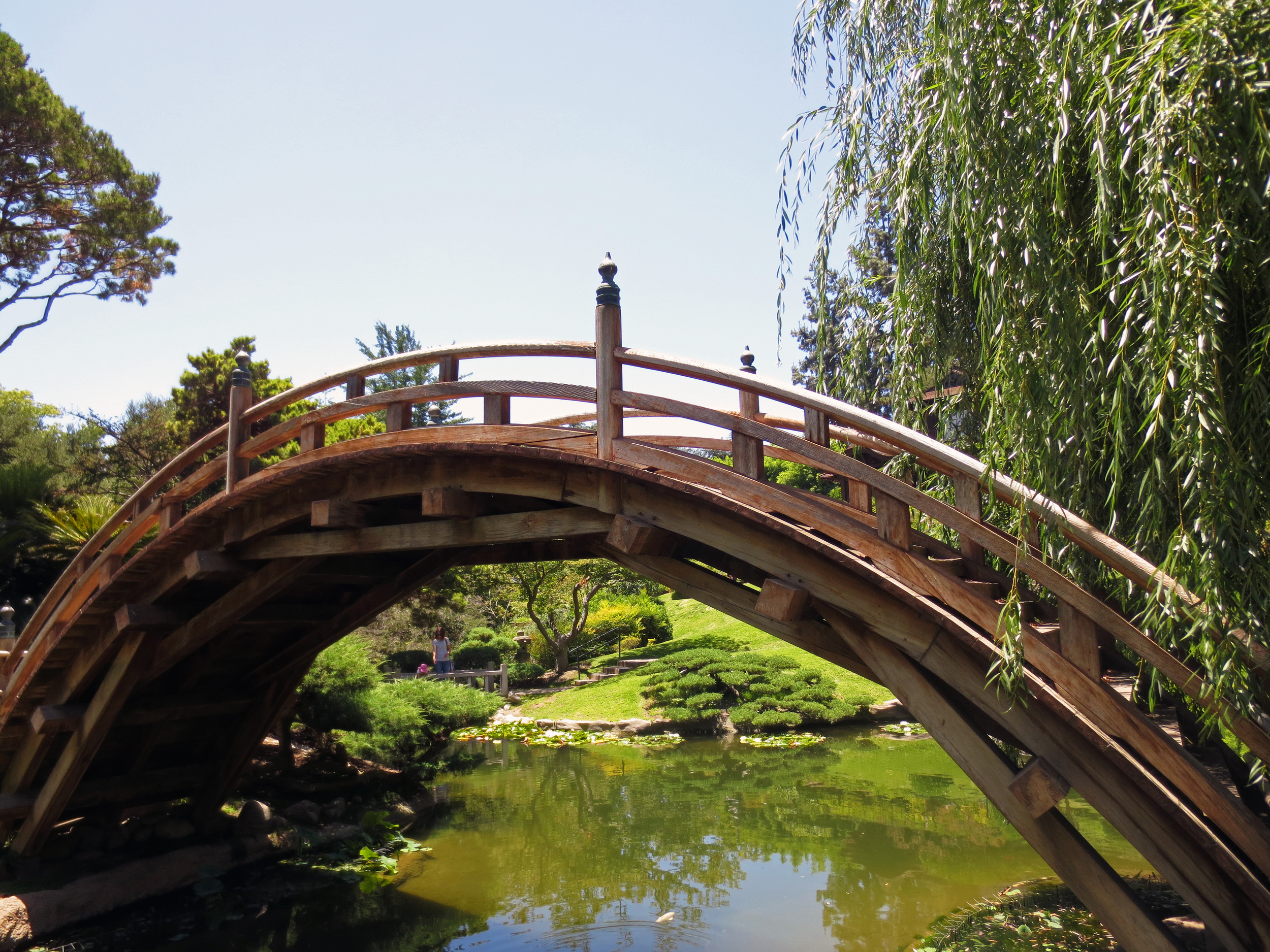 A romantic bridge in the Japanese Gardens. It was off limits.