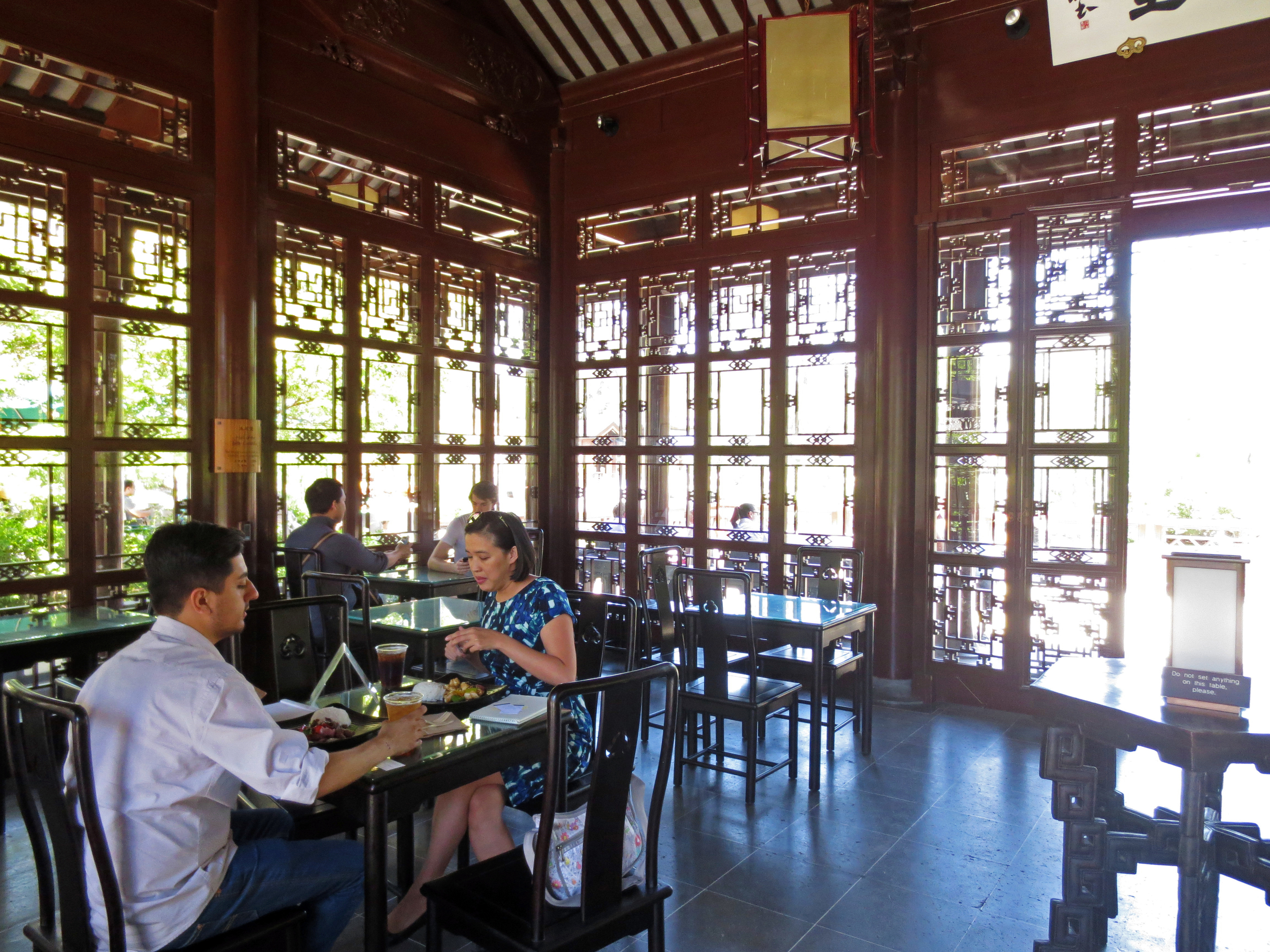 The Chinese Tea House provides quite a different atmosphere for tea time.
