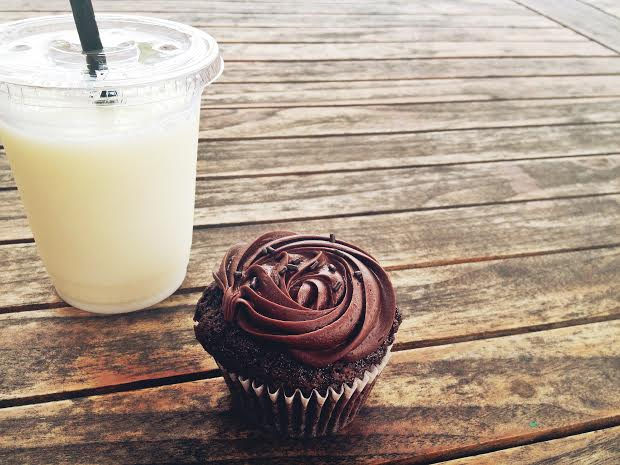 cupcake and milk