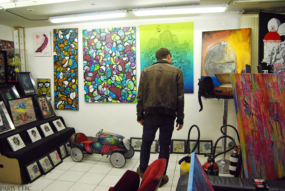 Up-and-coming artists showcase their works for sale at this artist's collective.