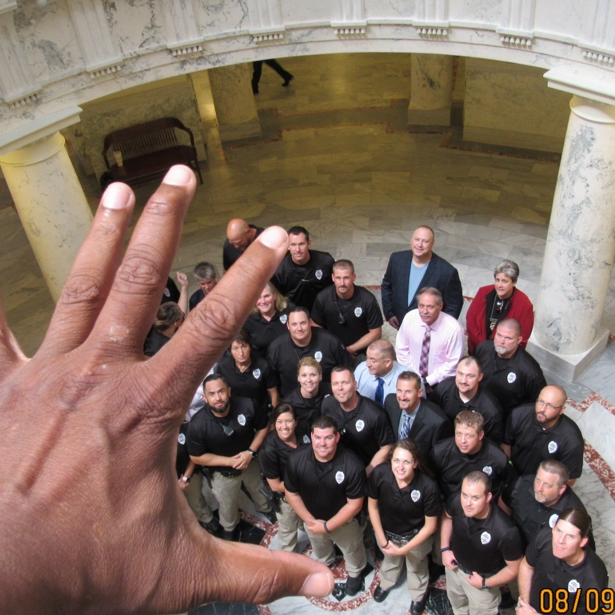 Idaho - In Boise, I happened to encounter every parole officer for the state as they were getting ready to be sworn in for duty.