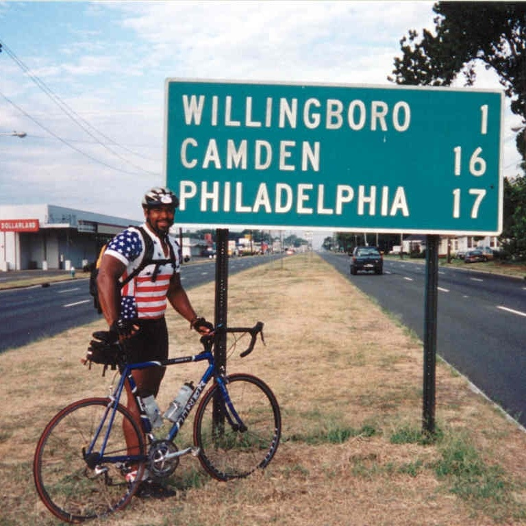 New Jersey - Here I am on the last day of my 2002 bike tour of the US - I was tired but energized at the same time and ready for life's next adventure!