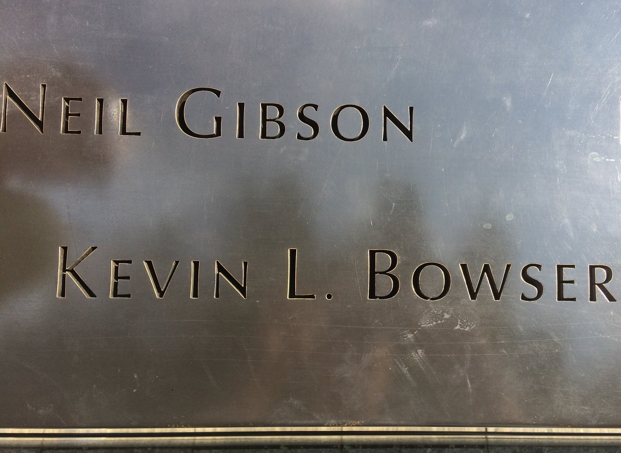 New York - Of the 14,000 people that I interacted with during my '17 Hug and High5 Tour of the nation - 4 elected to visit the 9/11 memorial and find my friend, Kevin Bowser's name. They never met Kevin- he's been gone since 2001- and only knew me long enough to have a quick conversation and share a hug - that's it.But, in our time together, a significant impact was made in our time.Their gestures were surely touching but what this picture really does -is show the great impact that we can leave upon those that we interact with.Use your moments to make a good impression.
