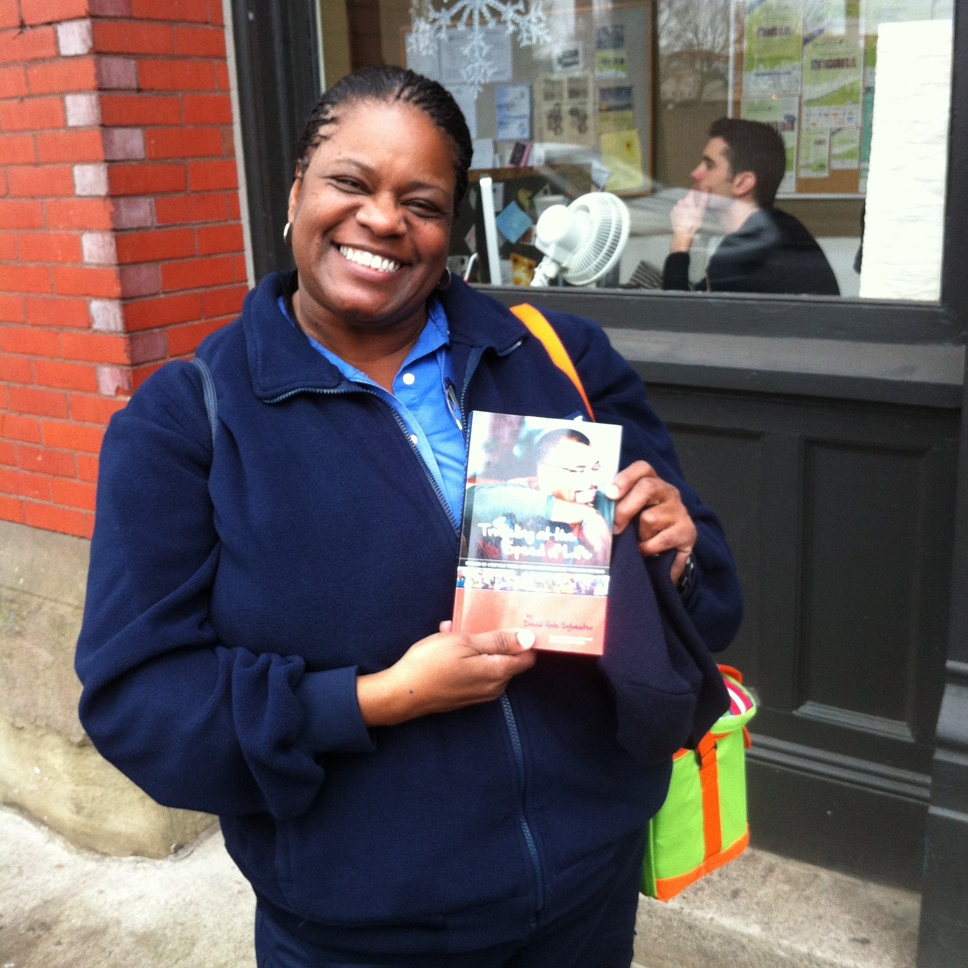 Oregon - One of the first book signings I had for my book, Traveling at the Speed of Life, was at a Portland, OR bike shop. On my way there, I met this smiling woman who wanted a copy.