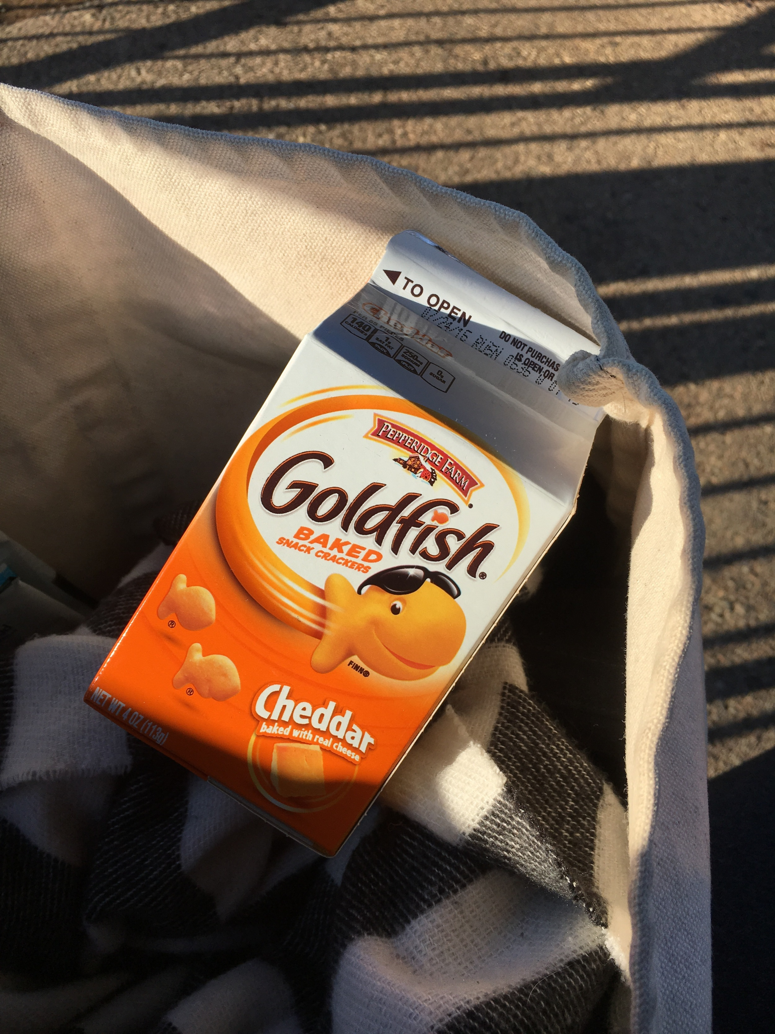 Sometimes the only way to get through rehearsal is with Goldfish 🐟