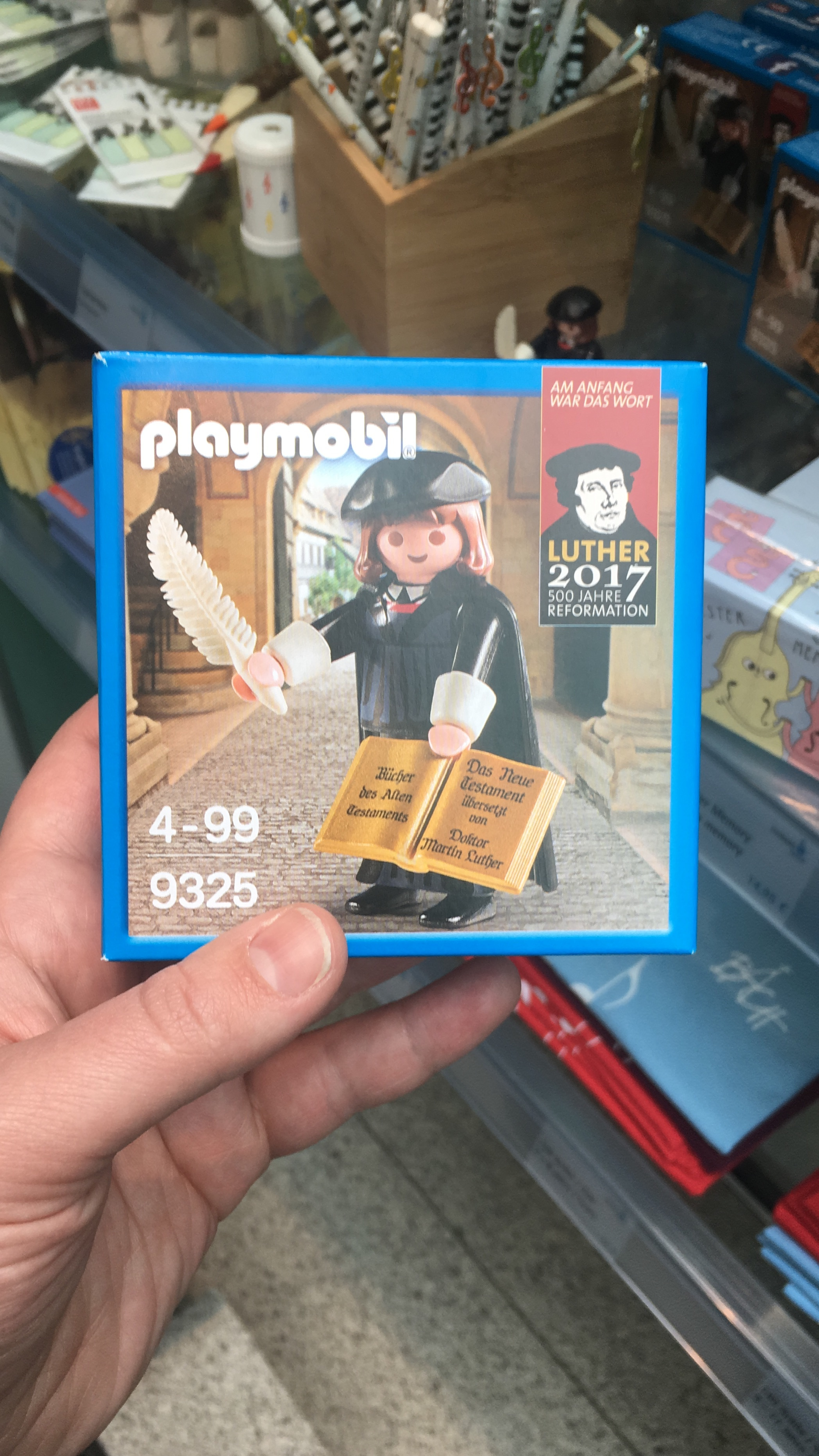 A playmobil Martin Luther…. My favorite purchase of the trip (lol)