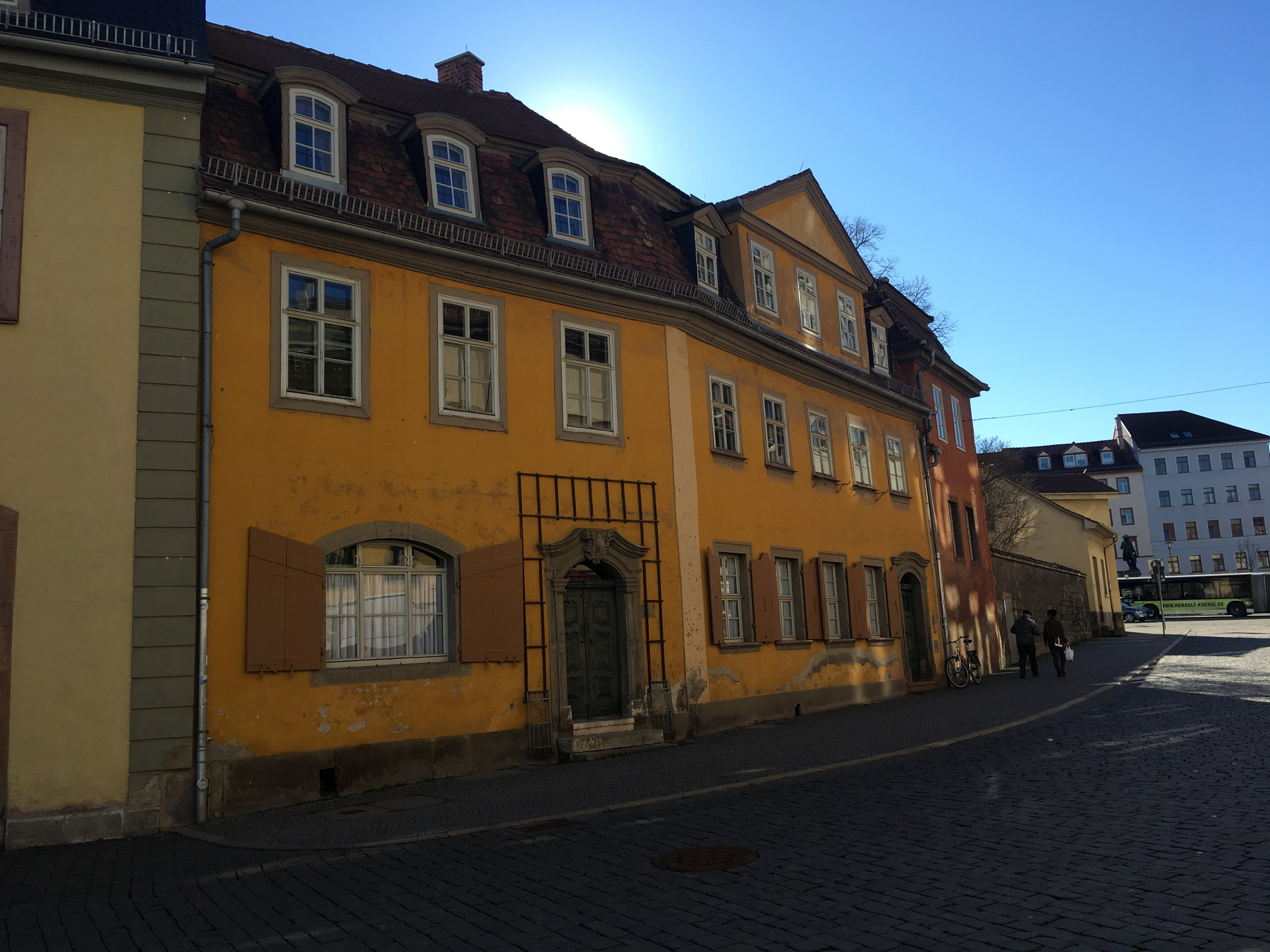 Outside of Goethe Haus in Weimar