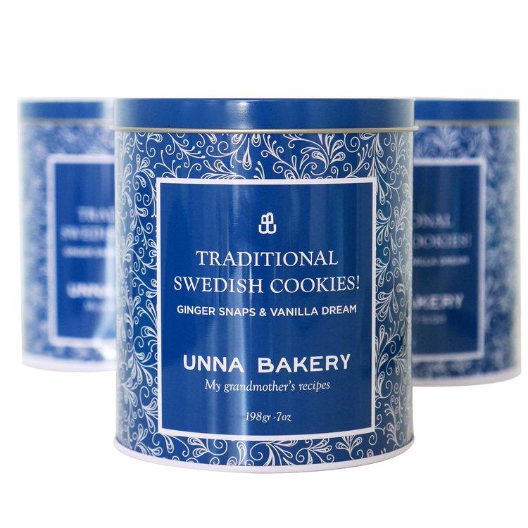 Unna Bakery Holiday tin product shot