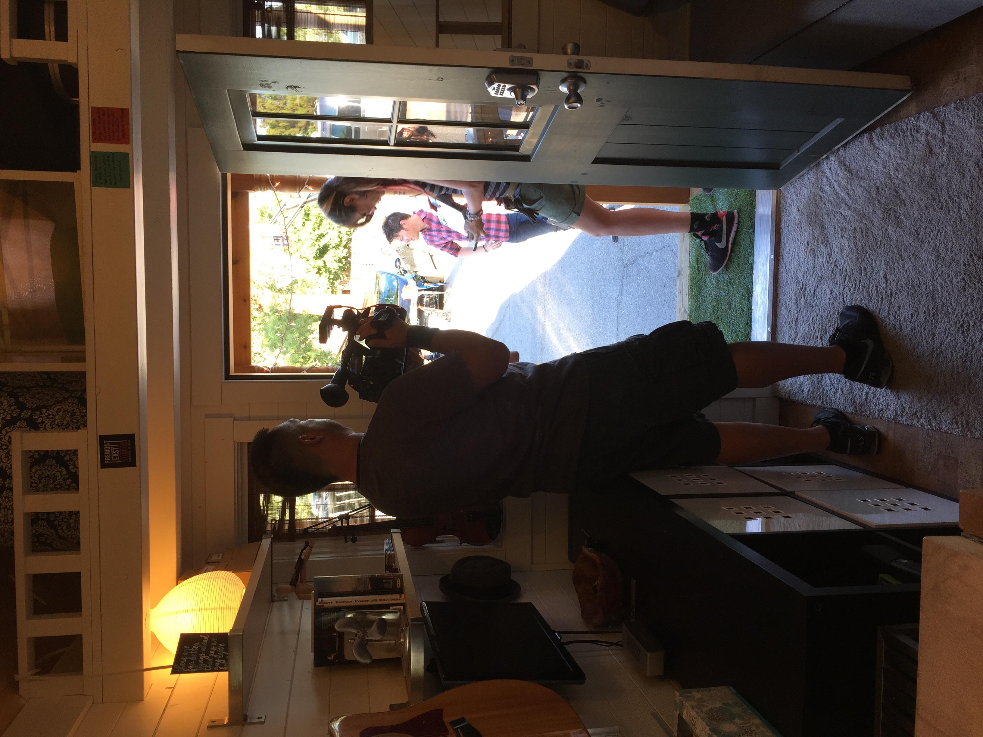 Camera crew getting ready