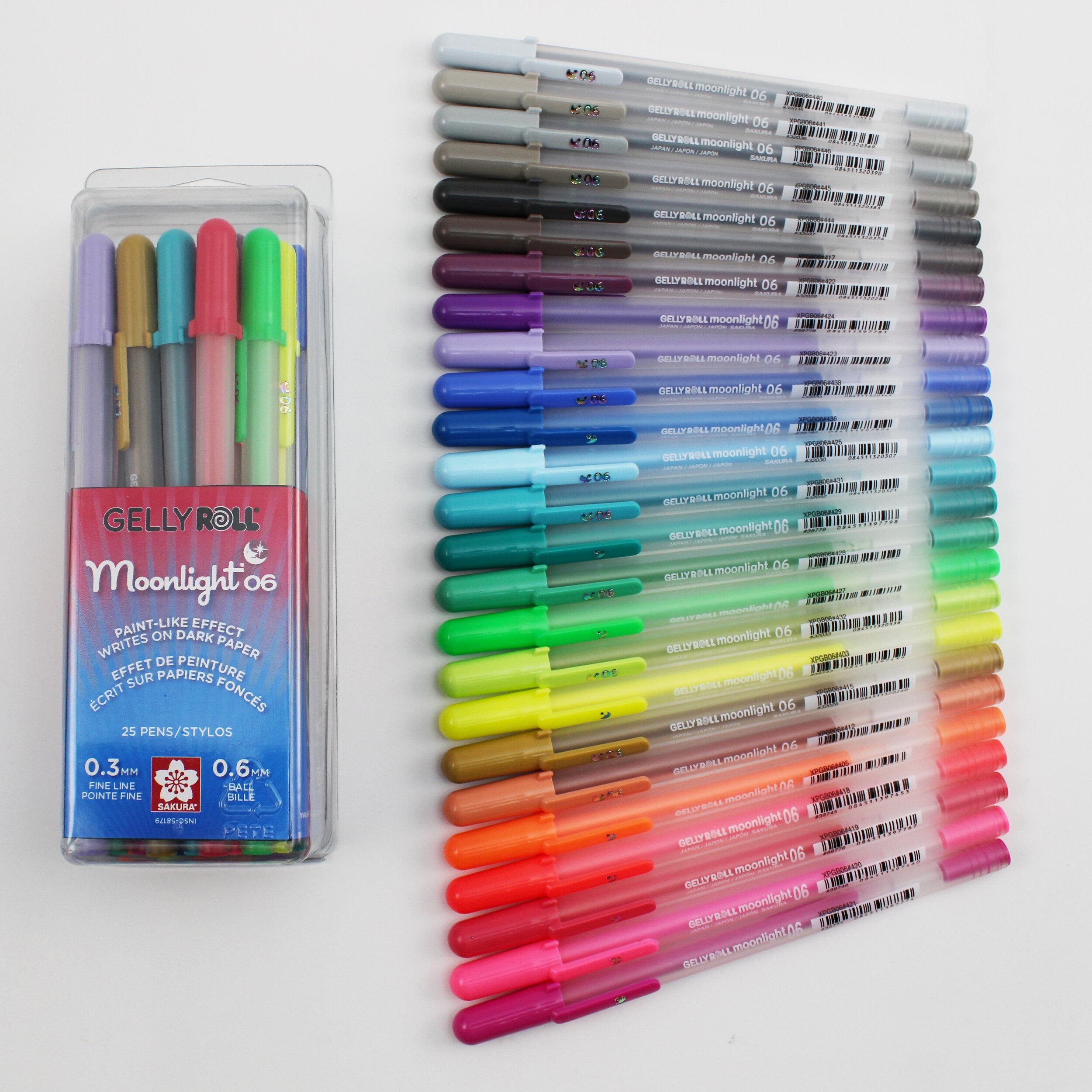 SAKURA Gelly Roll 12 Mix Pack of Rollerball Pens Moonlight 06 Fine Universe