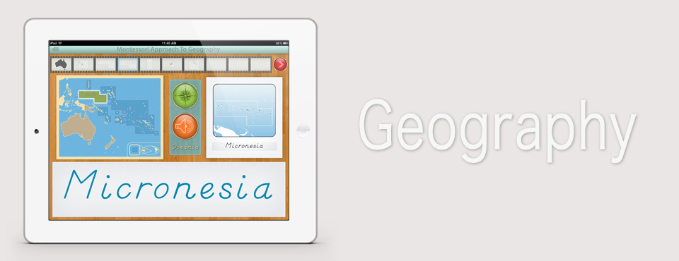 Oceania app by Mobile Montessori