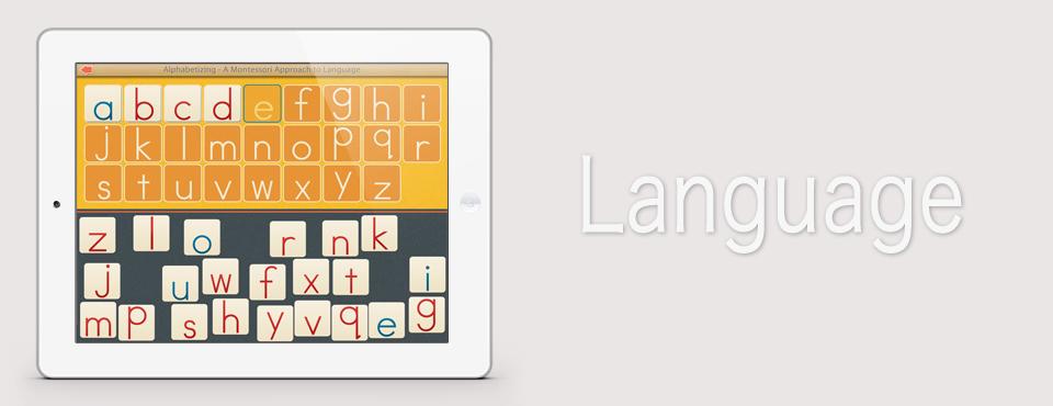 Alphabetizing app by Mobile Montessori