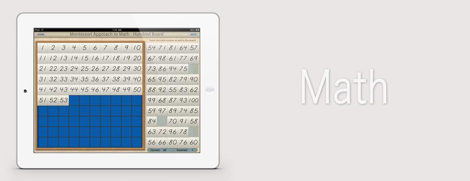 Hundred Board app by Mobile Montessori