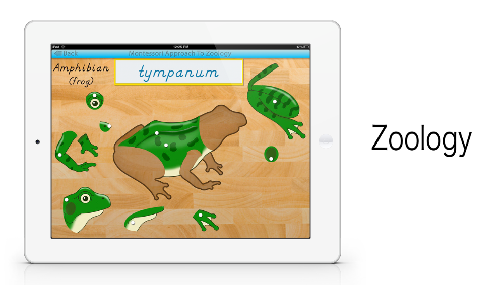 Parts of Animals app by Mobile Montessori