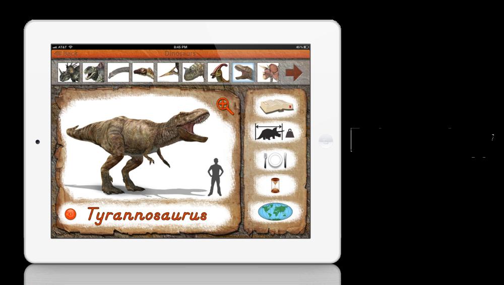 Dinosaurs app by Mobile Montessori