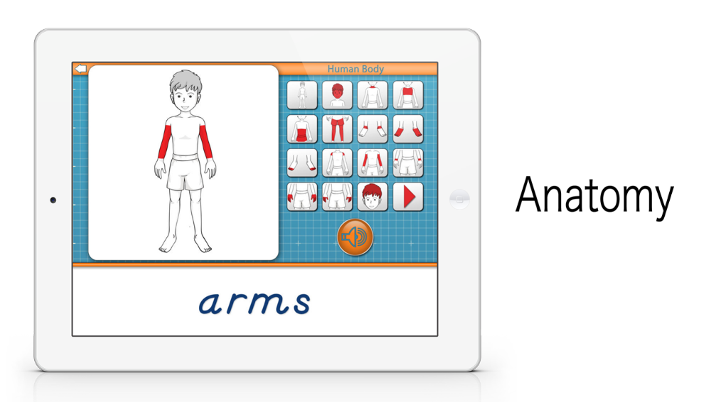 Parts of the Human Body app by Mobile Montessori