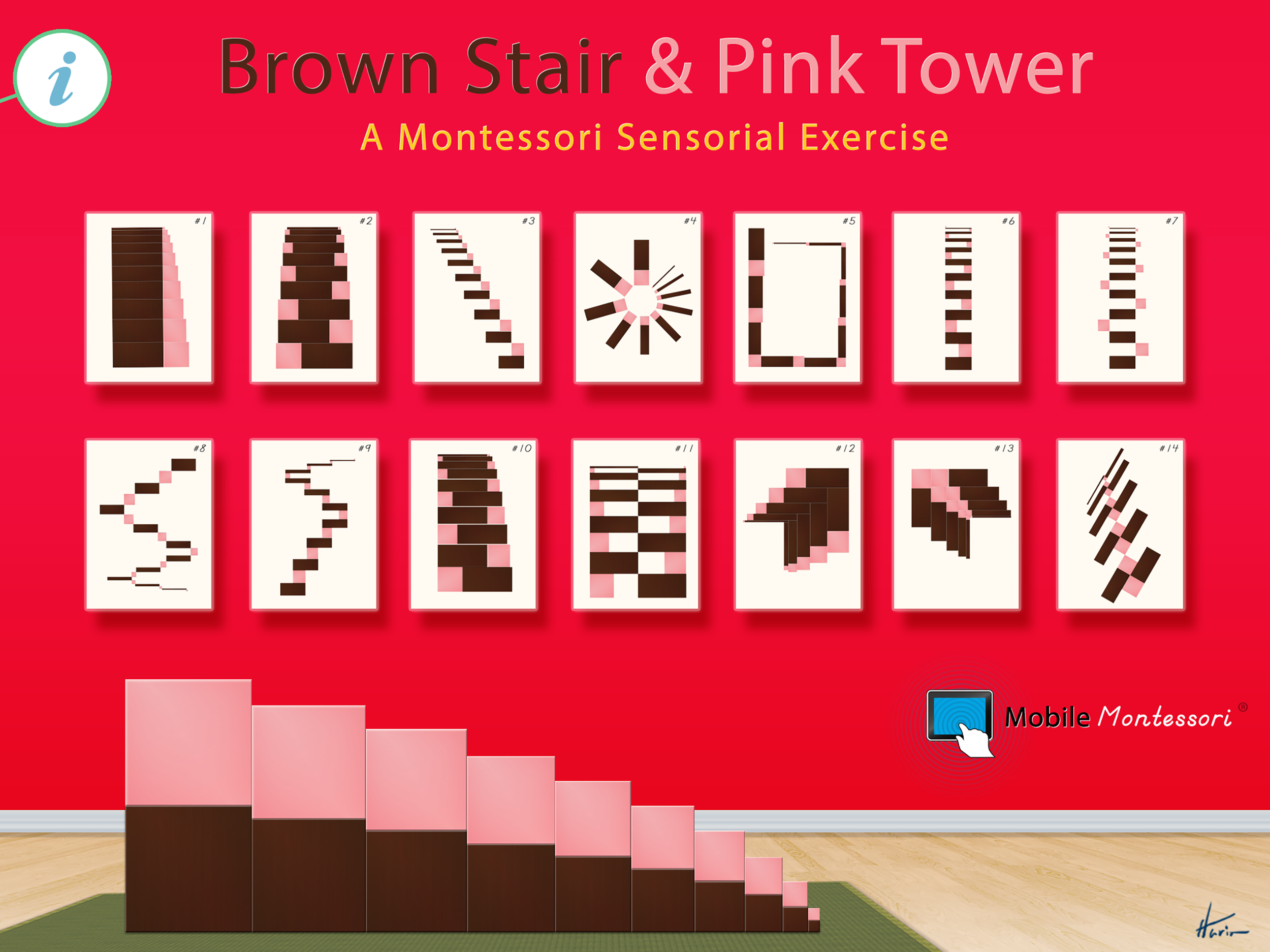 Image result for montessori brown stair