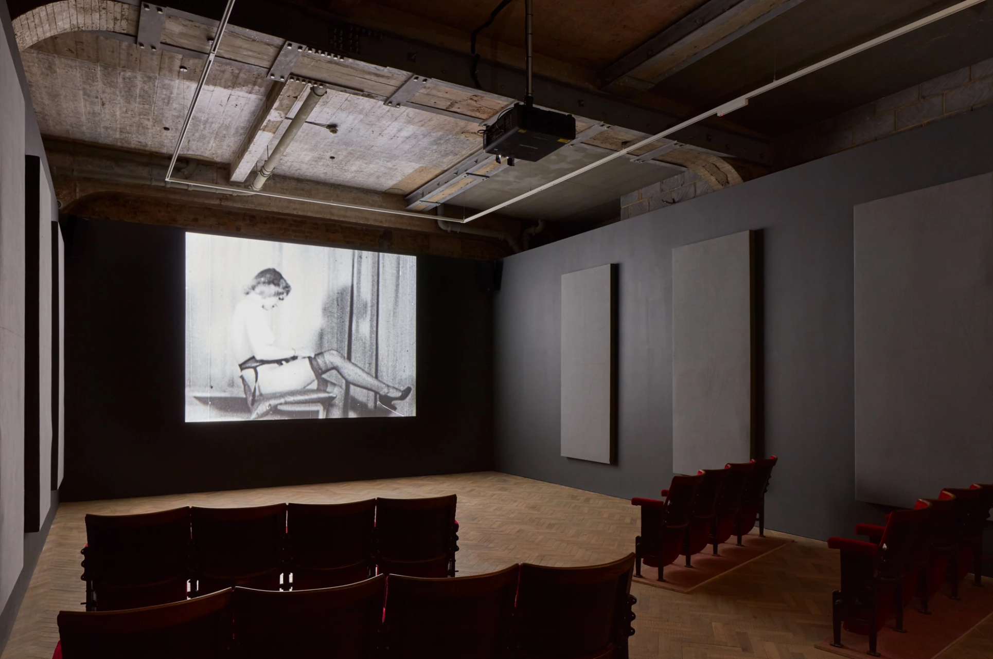 Installation of  A MOVIE , Thomas Dane Gallery,May 6th –July 15th, 2017; © Conner Family Trust, San Francisco; Courtesy of Thomas Dane Gallery, London