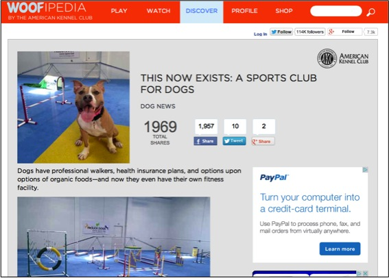 AKC Woofipedia, August 24 2014