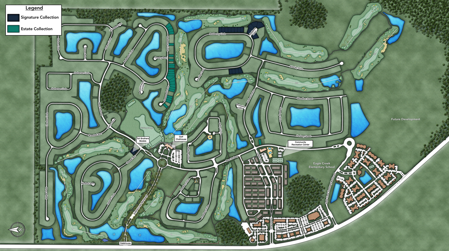 Toll Brothers at Eagle Creek Site Plan
