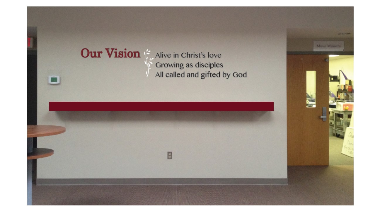 Located on the left wall beside the Choir Room.