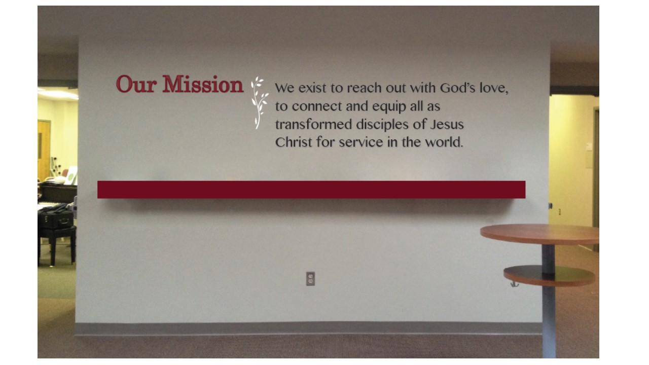 Located on the right wall beside the Choir room.