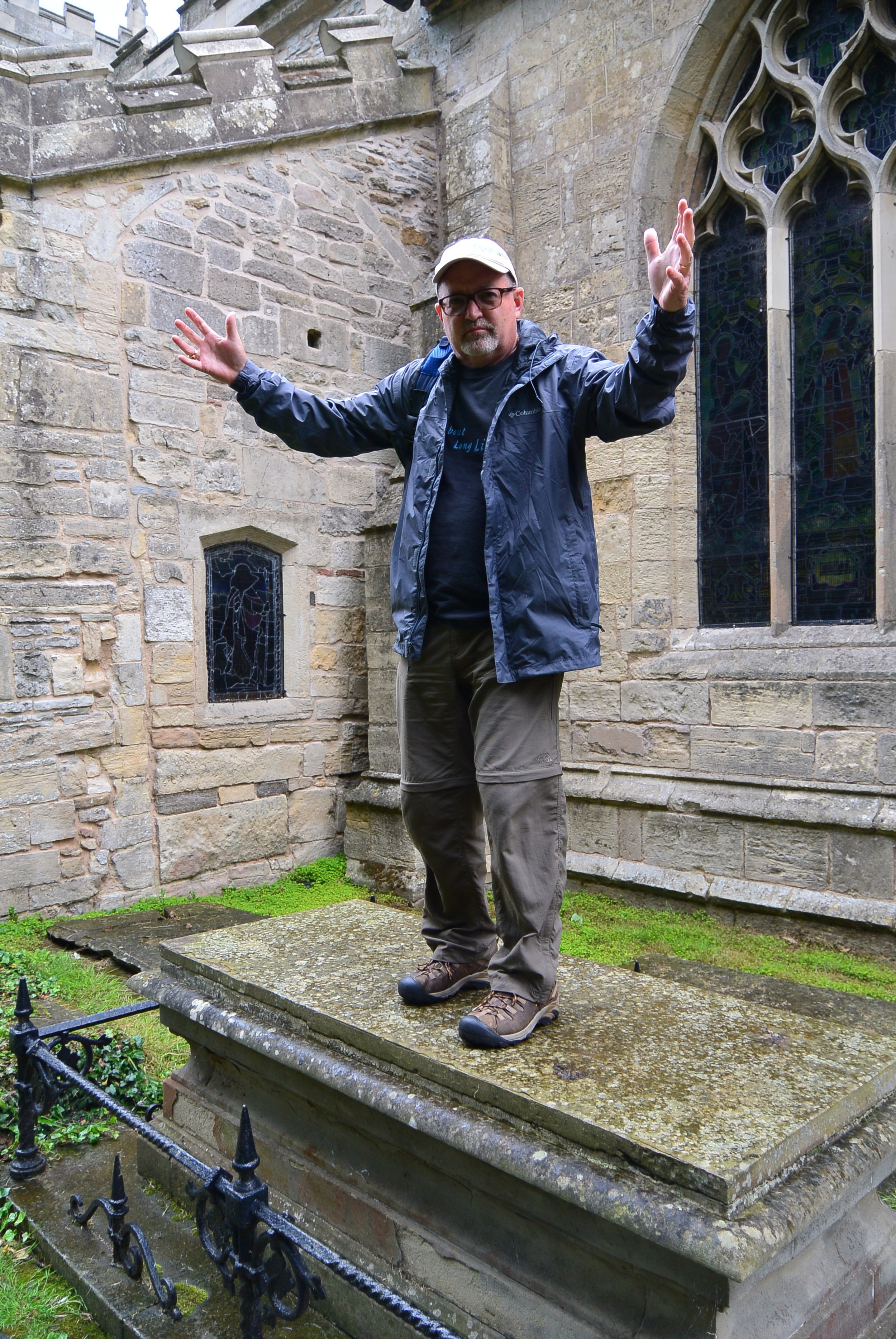 Standing on Samuel Wesley's grave as John once did