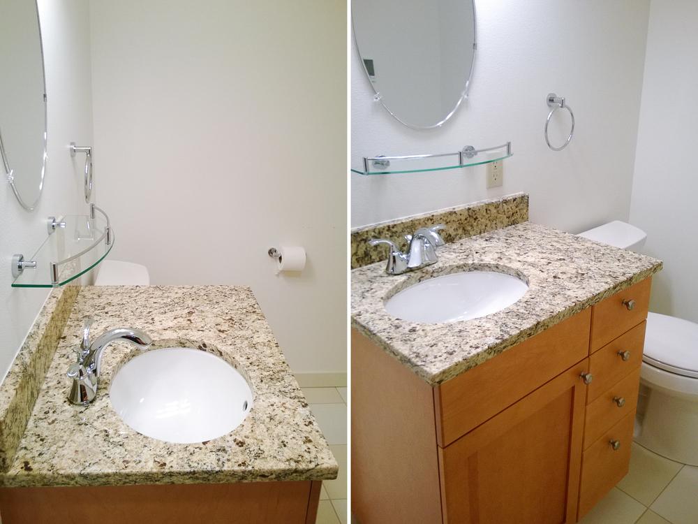 Reynolds Remodel Downstairs Bathroom Sink and Cabinet