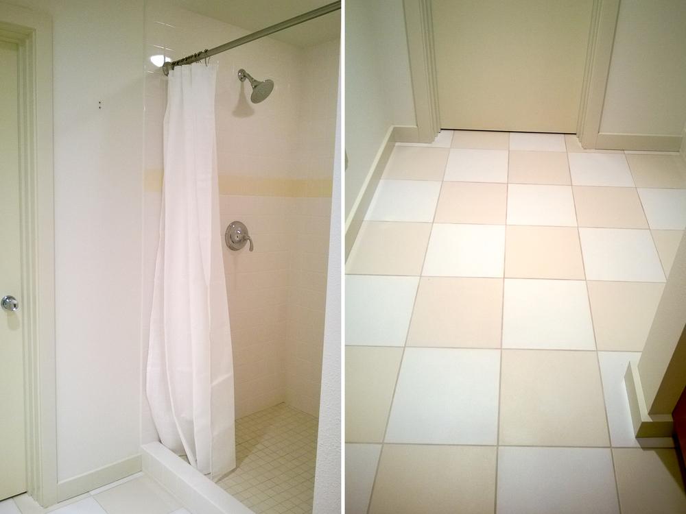 Reynolds Remodel Downstairs Bathroom Shower and Tile floor