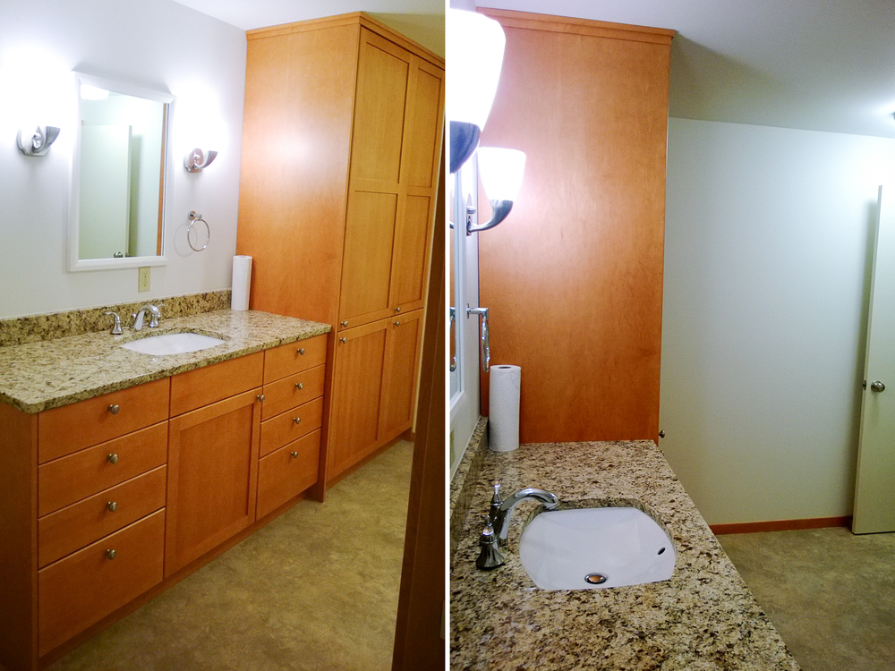 Reynolds Remodel Upstairs Bathroom Vanity and Cabinets