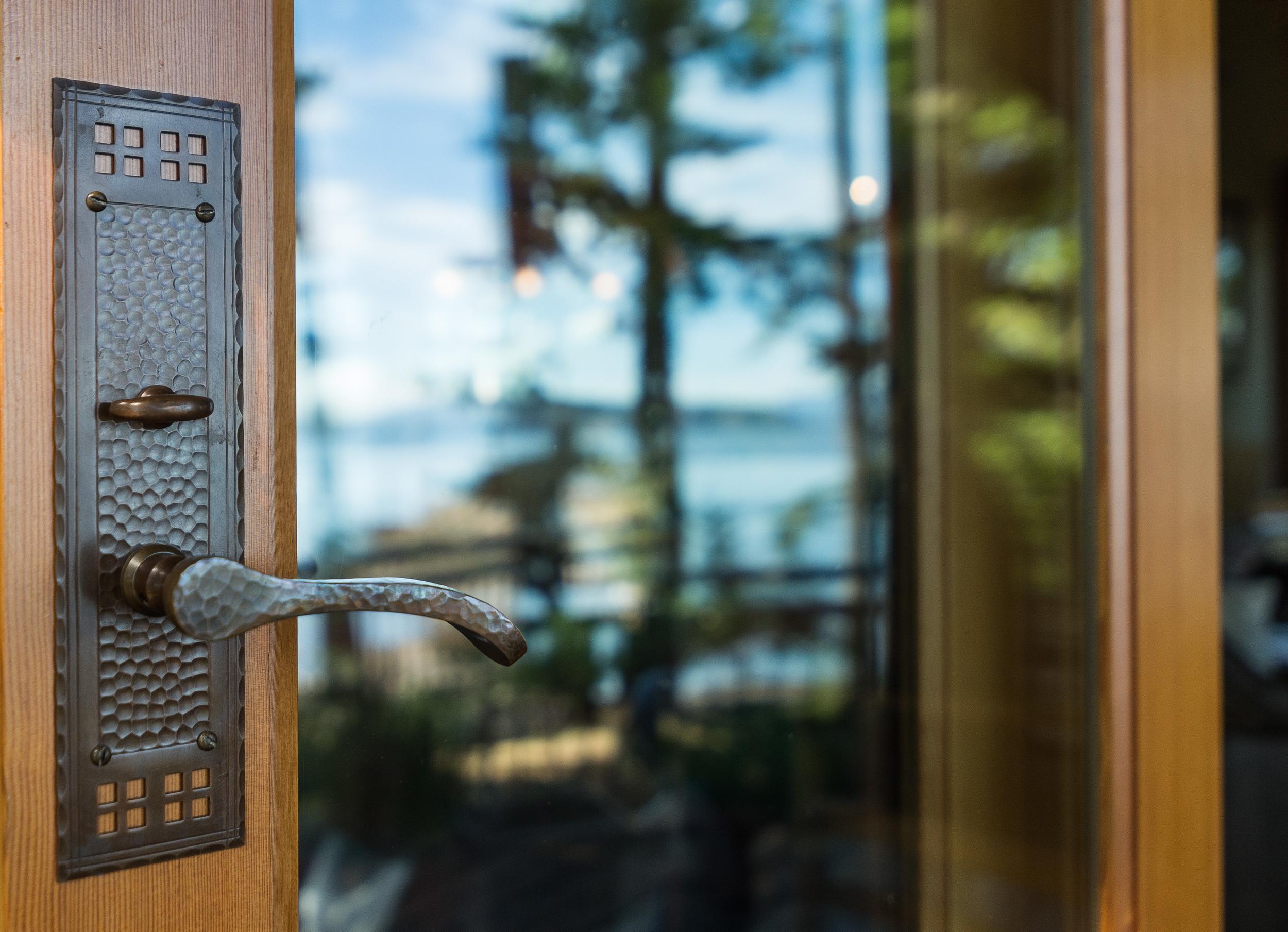 Hand Hammered custom door hardware .........