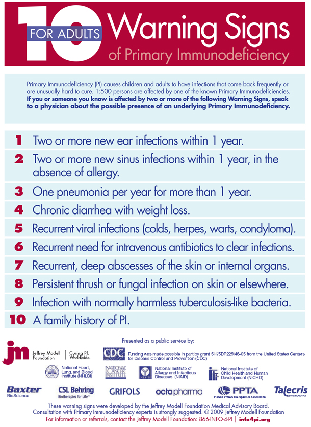 immunodeficiency in adults