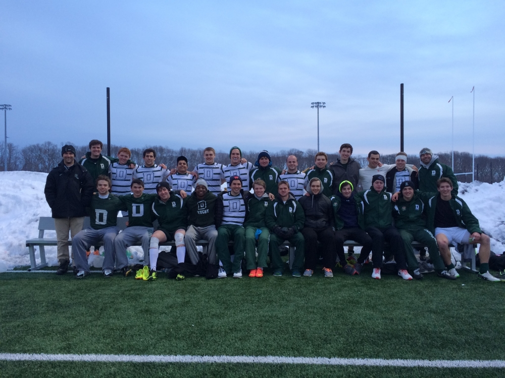 Dartmouth Green and White teams celebrating a First and Fourth place finish at Stony Brook, NY.