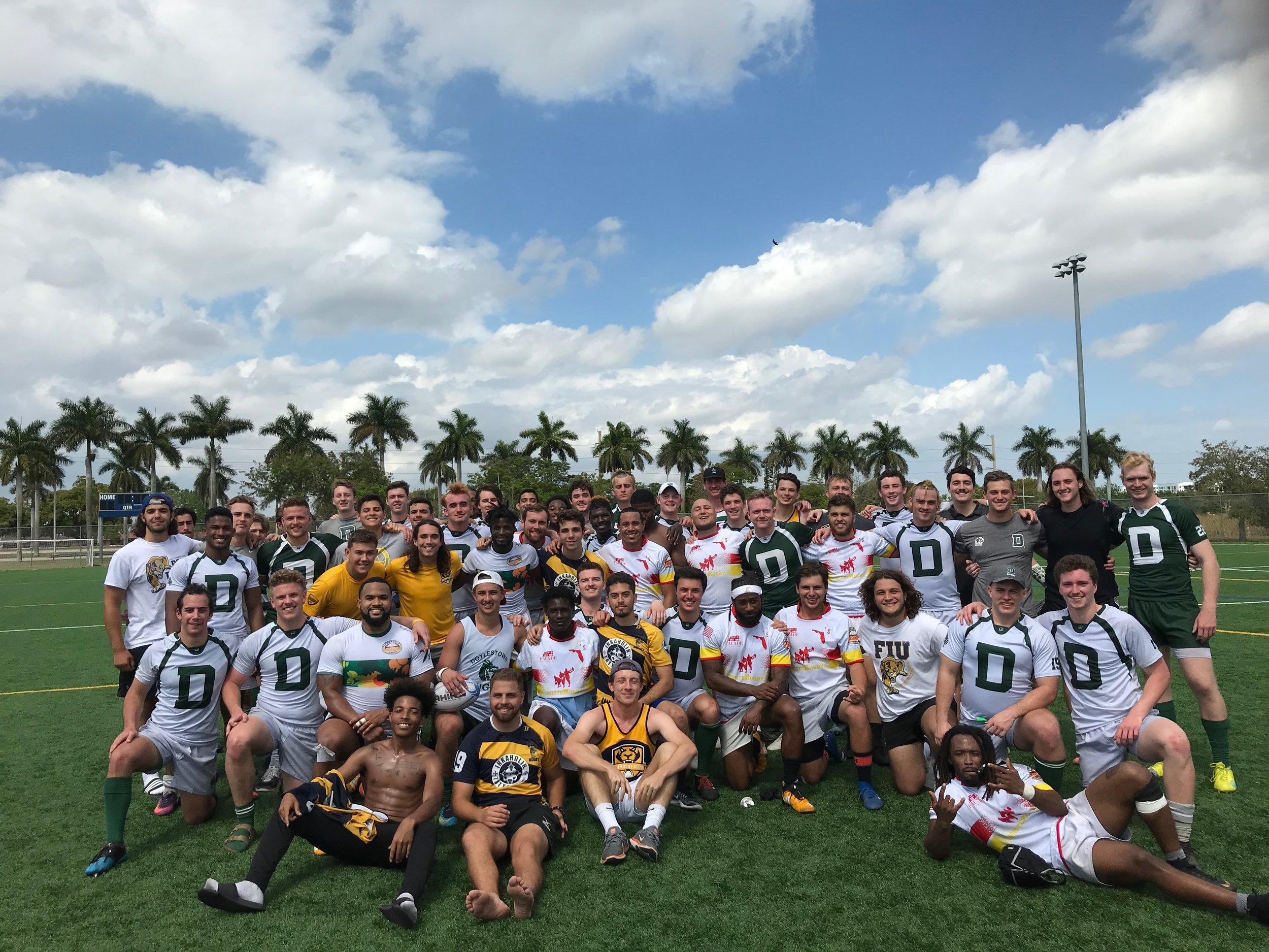 Team photo with Florida International University