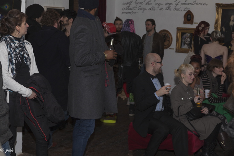 Opening night in Berlin for the Poe group art show