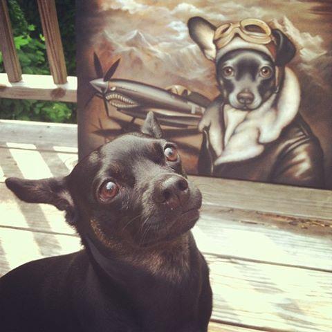 Trejo models for his portrait, Lil Spitfire
