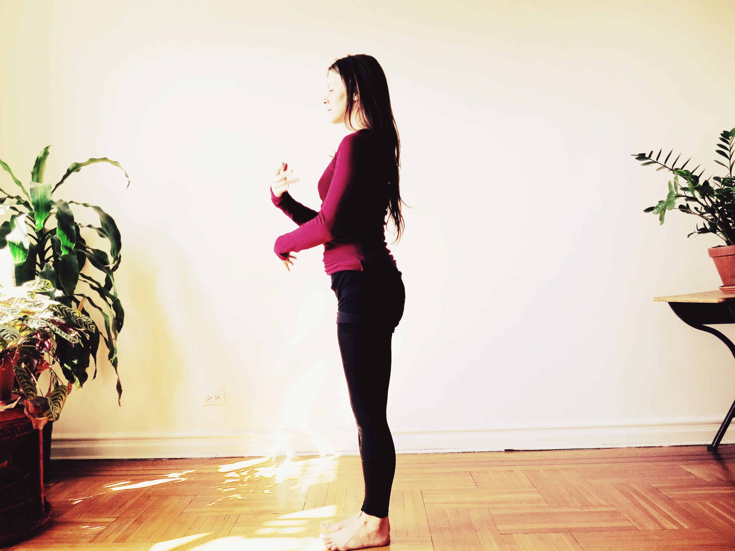Alicia teaching Alignment Yoga in Brooklyn