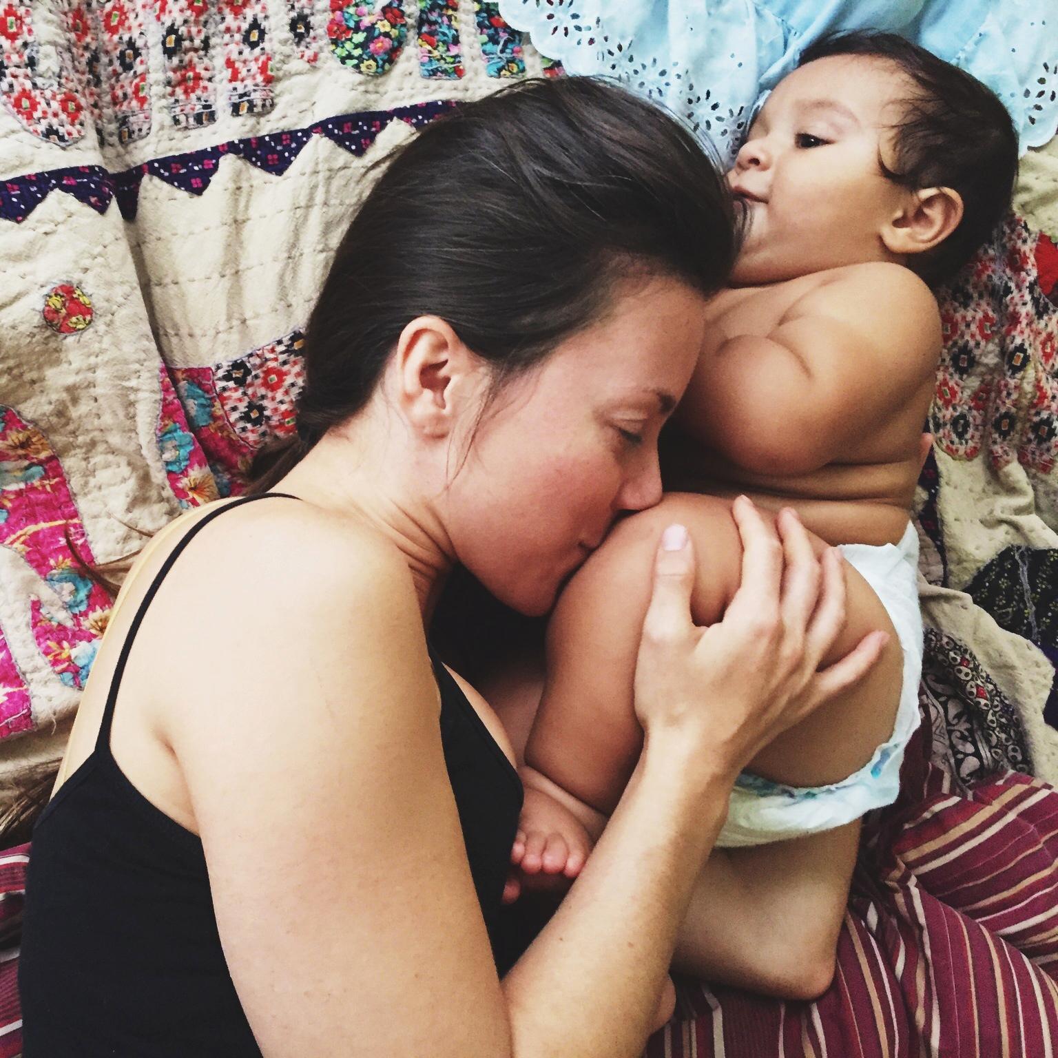 Postpartum baby feet