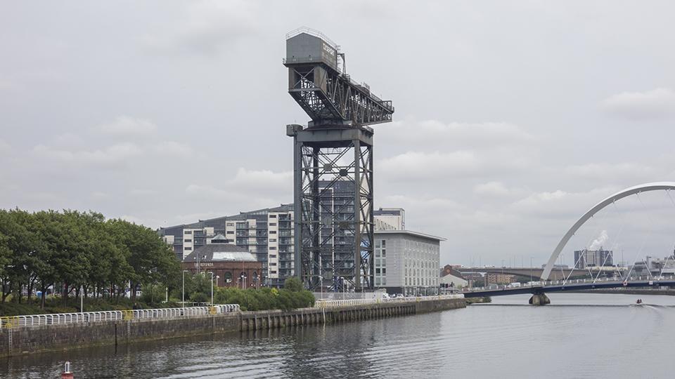 old Clydebank shipyard crane