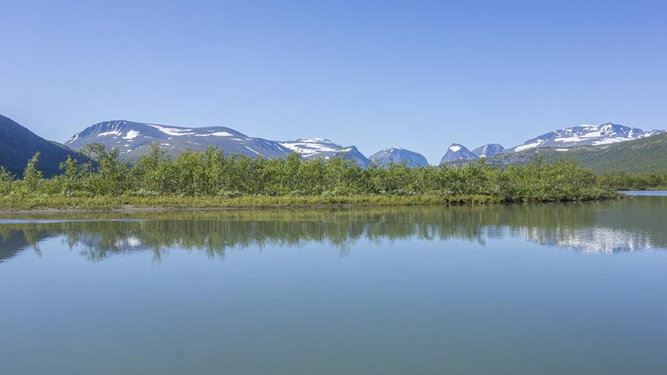 Laddujärvi and Kebnekaise