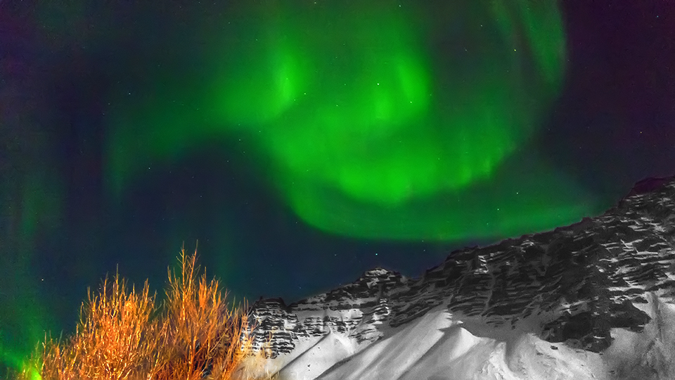 Aurora Borealis, Höfn, Iceland