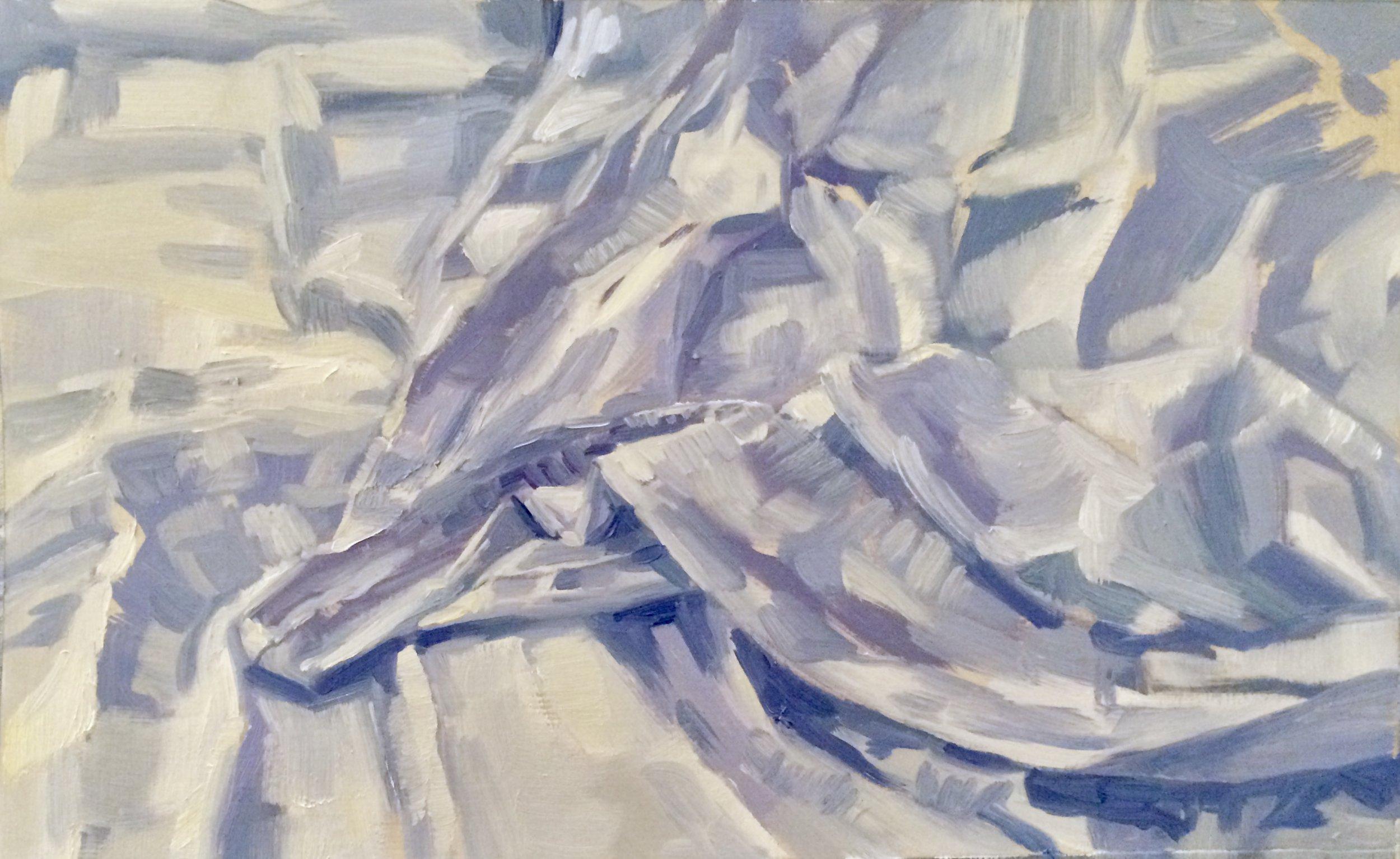 Lavender Sheets,   2017  Oil on Paper