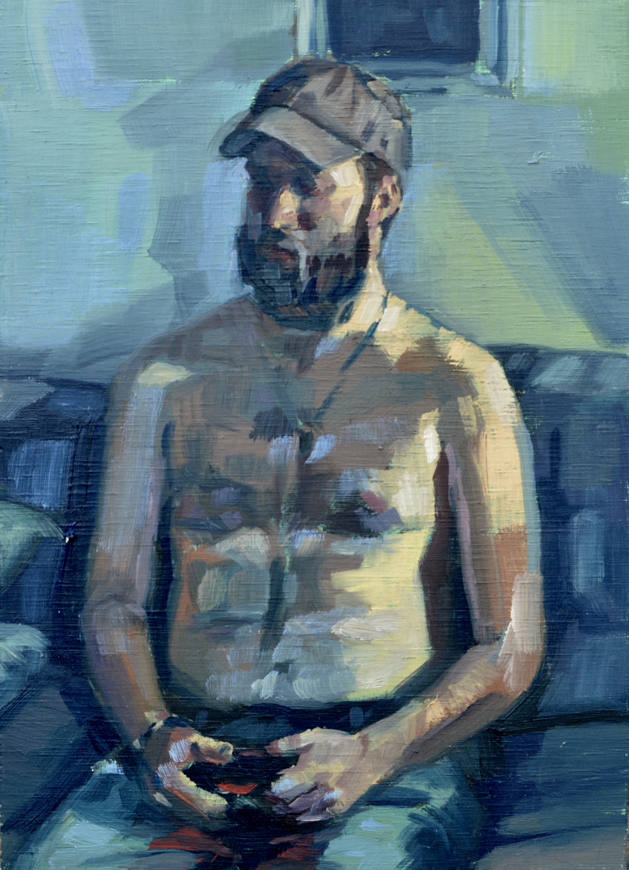 Figure Study of Peter,   2017  Oil on Panel