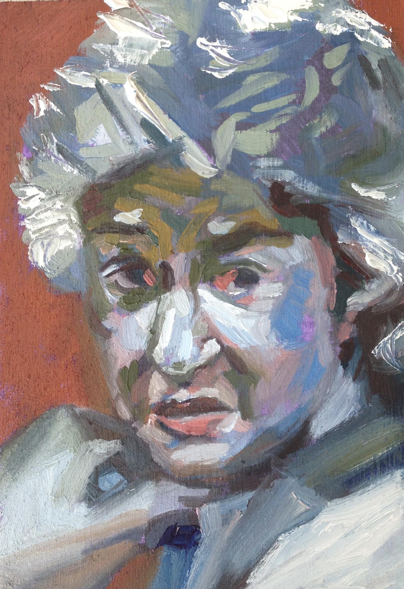 Bea Arthur,   2016  Oil on panel