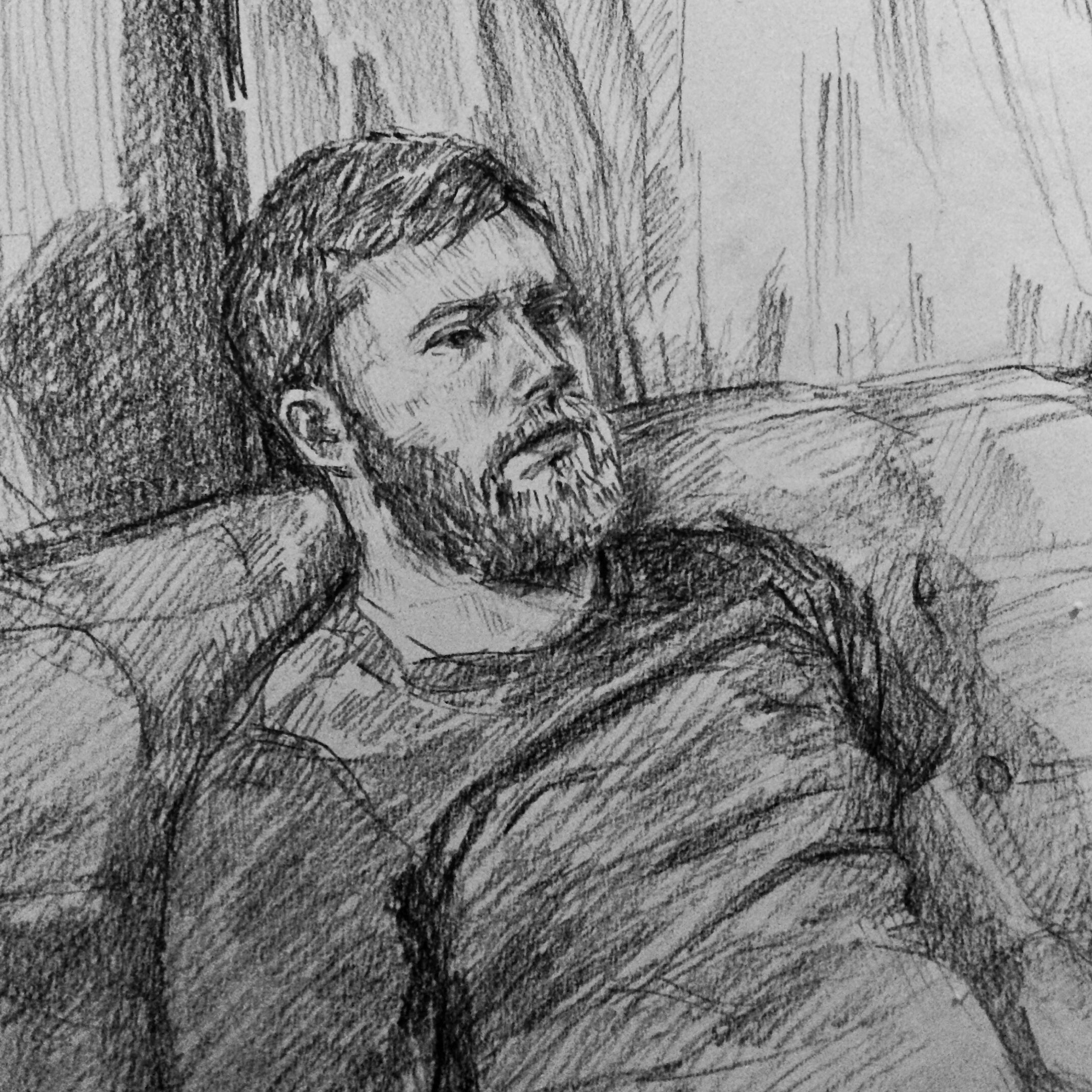 Peter I,   2017  Charcoal on paper