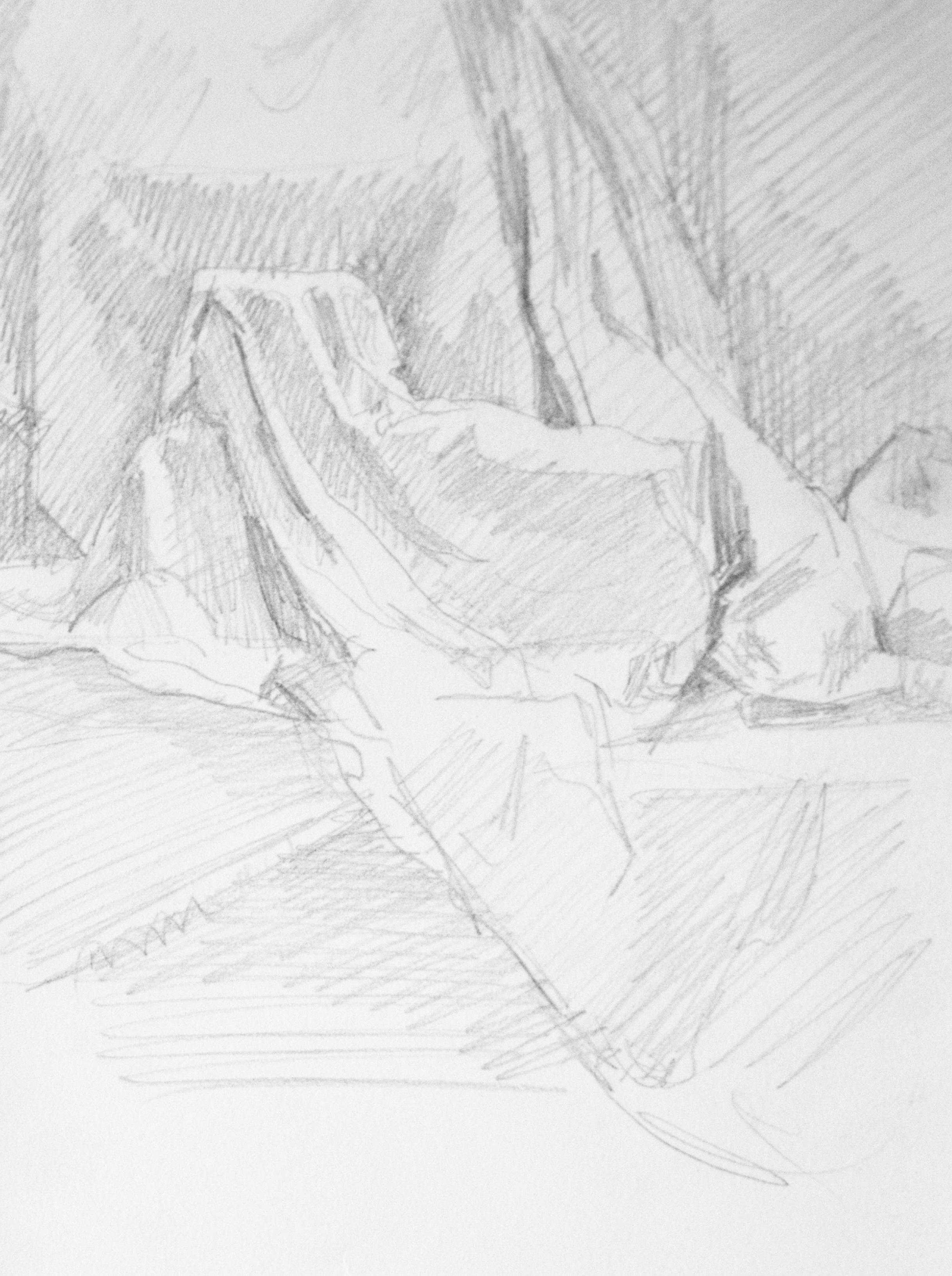 Drapery Study,   2017  Graphite on paper