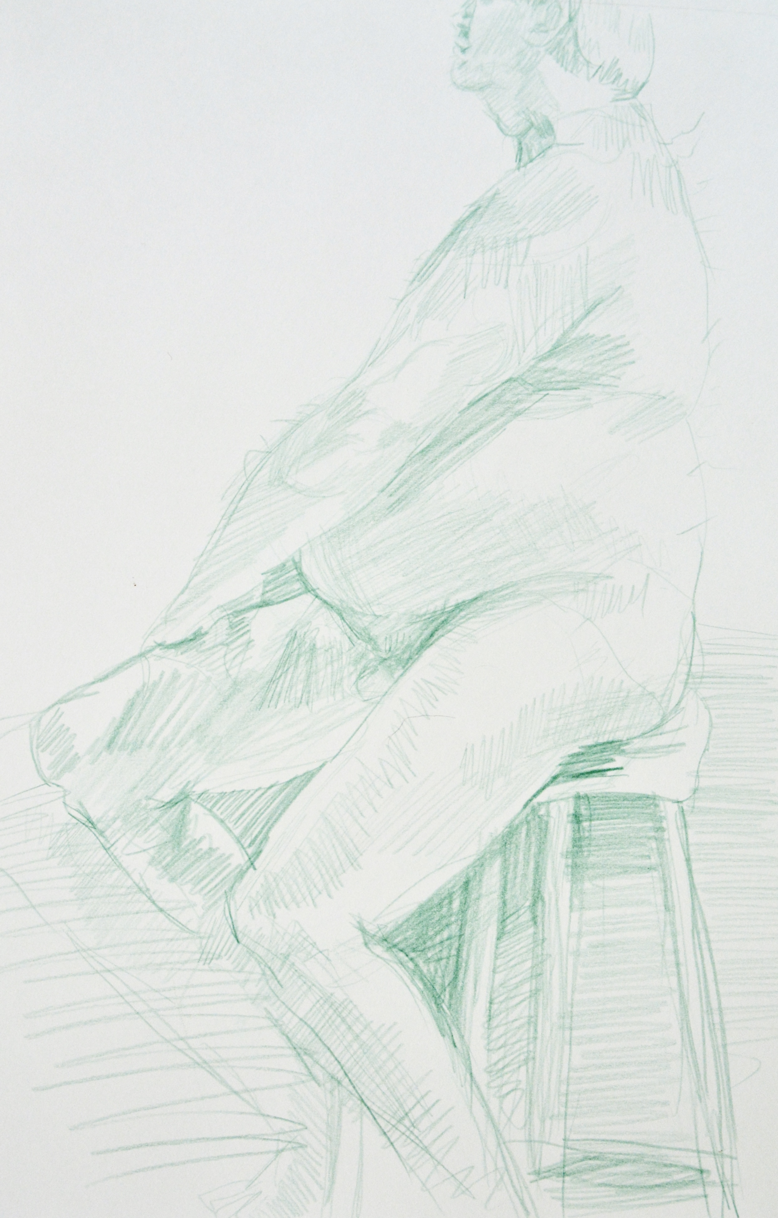 Figure Study,   2016  Colored pencil on paper