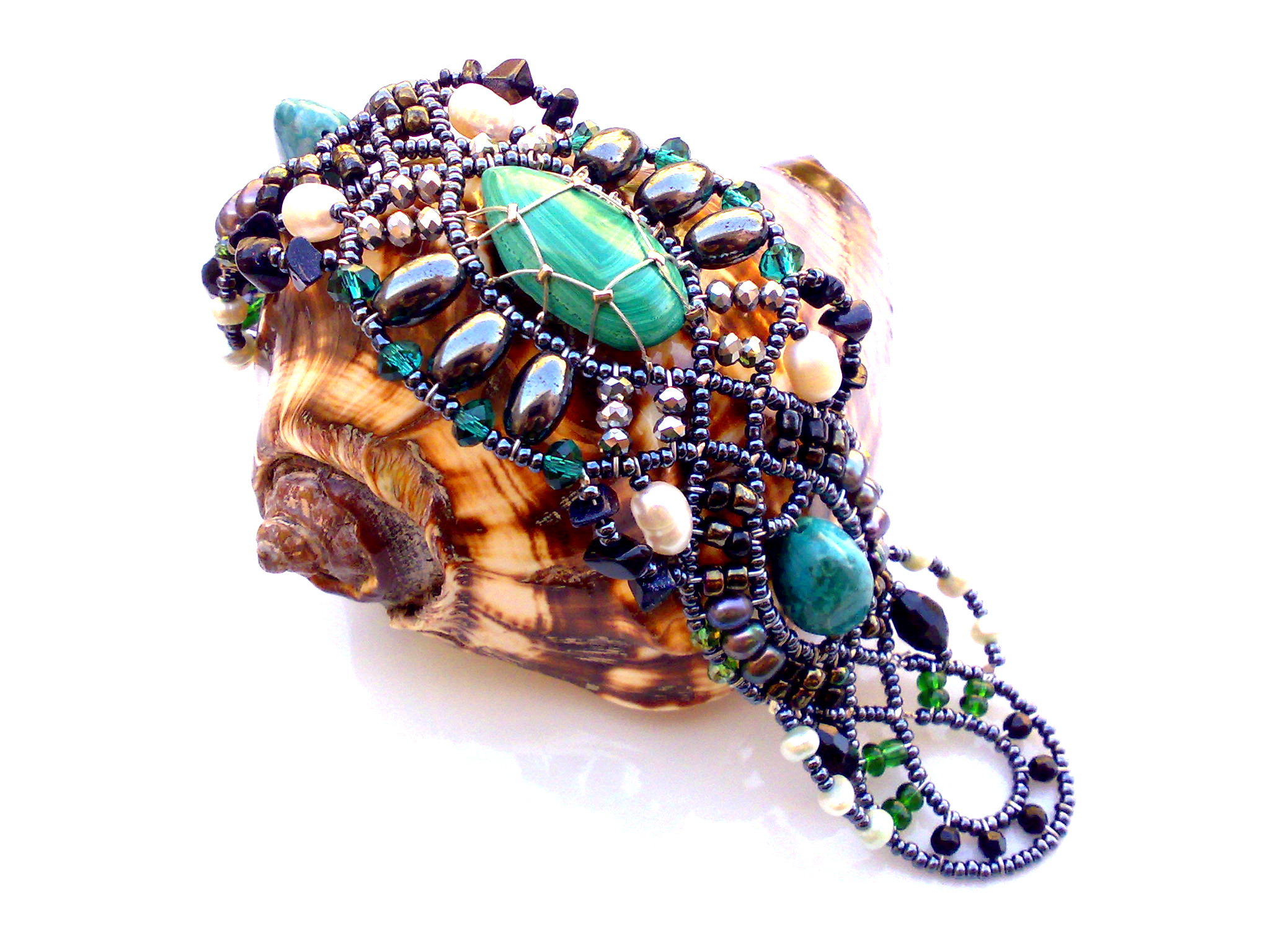 Genetic Malachite - bracelet