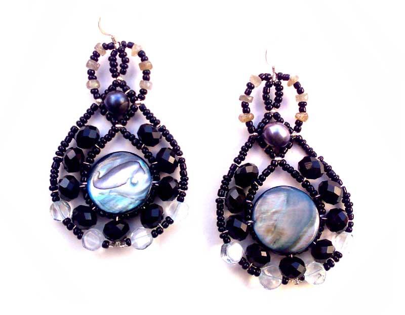 Lucky Charm Aquamarine - earrings