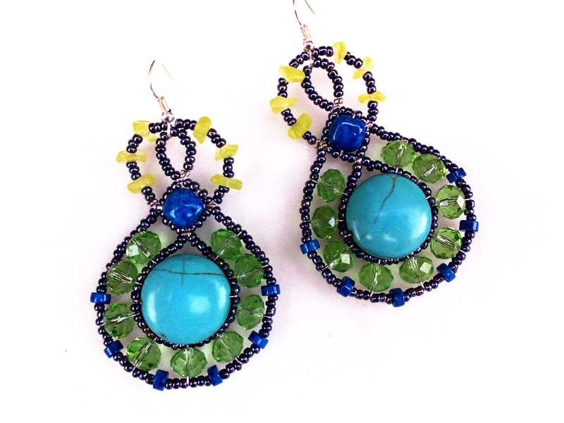 Lucky Charm Turquoise - earrings